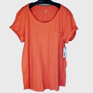 Womens XXL T Shirt a.n.a. Scoop Neck Tee Top Flame